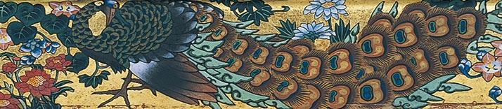 信州小布施・画狂人葛飾北斎肉筆画美術館 北斎館 男浪図 額絵部分