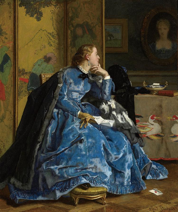 複製展示「青いドレスの婦人」 PPS通信社