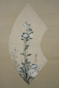 葛飾北斎筆「桔梗」、秋の展覧会で展示いたします。