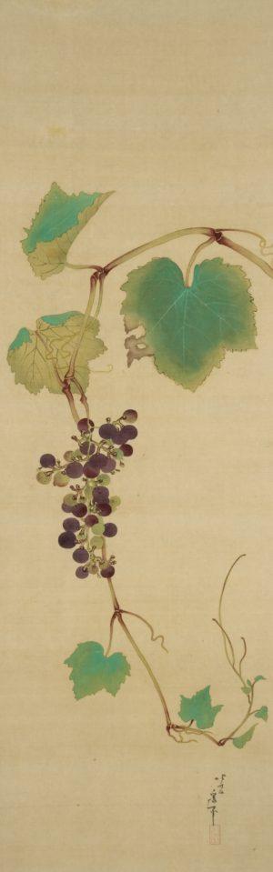 【作品紹介】北斎の「葡萄」。秋ですね~。